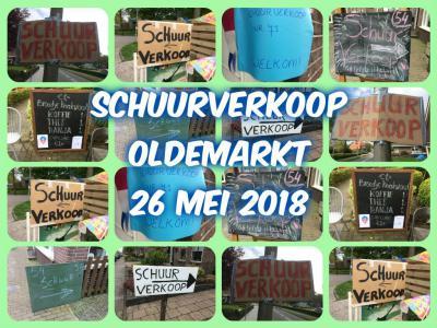 Op een zaterdag eind mei én begin oktober is er de Schuurverkoop Oldemarkt. Tientallen huishoudens in het dorp verkopen dan hun overtollige spullen vanaf hun eigen oprit, of vanuit hun schuur, tuin of woning.
