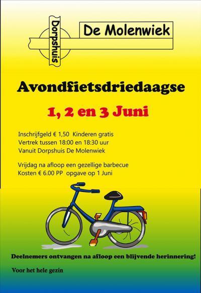 Begin juni is er in Ommelanderwijk de Avondfietsdriedaagse, met na afloop van de derde dag lekker barbecuen
