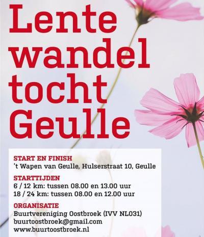 Bij de Lentewandeltocht van Buurtvereniging Oostbroek (op een zondag in mei) kun je kiezen uit de afstanden 6, 12, 18 en 24 km