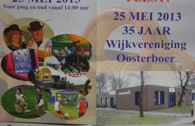 Wijkvereniging Oosterboer is in 1978 opgericht en heeft in 2013 dus het 35-jarig bestaan gevierd