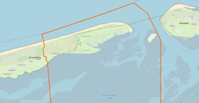 Oosterend is een klein dorp met een omvangrijk buitengebied; in het ZW grenst het aan het dorp Hoorn, in het O aan het eiland Ameland, in het N aan de Noordzee en in het Z hoort er nog een strook Waddenzee onder, tot aan het dorp Sint Jacobiparochie.