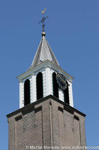 Oosterwijk, torenspits van de Protestantse kerk
