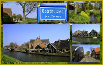 Oosthuizen, collage van dorpsgezichten (© Jan Dijkstra, Houten)