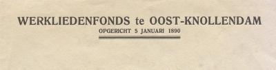 Het Werkliedenfonds Oost-Knollendam is opgericht in 1890 en is daarmee de oudste vereniging van het dorp