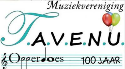 Muziekvereniging T.A.V.E.N.U. uit Opperdoes is opgericht in 1917 en heeft dus in 2017 het 100-jarig bestaan gevierd. Onze complimenten voor het prachtige creatieve logo t.b.v. het 100-jarig bestaan!