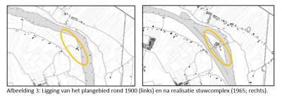 Tot ca. 1960 was de Ossenwaard een uiterwaard van Hagestein. Sindsdien, door aanleg van stuw- en sluiscomplex Hagestein, van het vasteland afgesneden en een eiland geworden. Op deze kaart (uit het bestemmingsplan) zijn 'voor' en 'na' mooi gevisualiseerd.