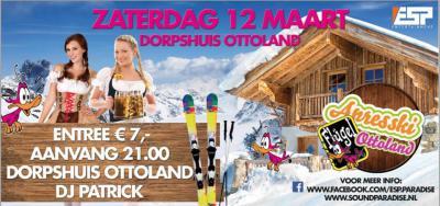 Op een zaterdag in maart is er jaarlijks een Après-ski Party in het dorpshuis van Ottoland