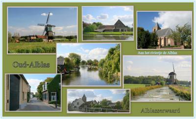 Oud-Alblas, collage van dorpsgezichten (© Jan Dijkstra, Houten)
