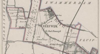Buurtschap Oud-Reeuwijk ligt rond de Oud-Reeuwijkseweg. Kennelijk valt de Z hiervan gelegen Nieuwdorperweg er ook nog onder, want getuige deze kaart uit ca. 1870 is of was aan die weg sprake van panden (of buurtjes?) genaamd Groot en Klein Oud-Reeuwijk.