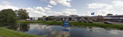 Bij het binnenkomen in Oude Verlaat vanuit Veendam kom je formeel ook de bebouwde kom van Muntendam binnen, maar de buurtschap ligt wel nog altijd buiten de dorpskern. Aan het straatnaambordje kun je zien dat je de buurtschap binnenkomt. (© Google)