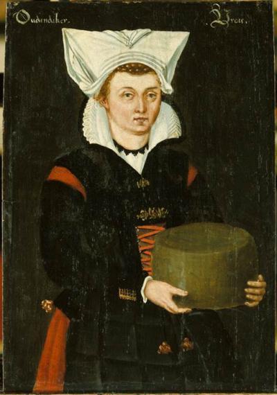 In Oudendijk wordt al vroeg kaas gemaakt. Dit schilderij uit 1598 beeldt een Oudendijkse vrouw af. Ze is gekleed in een traditioneel tenue en toont trots de door haar gemaakte kaas. Sinds 1925 is OudenDijk kaas een officieel geregistreerd merk.