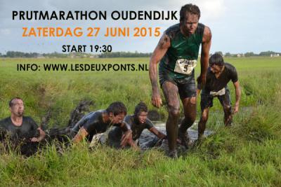 Tijdens de Prutmarathon Oudendijk (op een zaterdag eind juni) houden de deelnemers het niet droog, maar dat is vast ook de bedoeling... ;-)