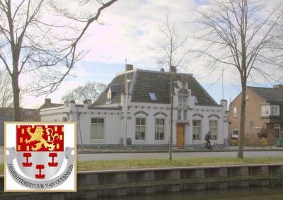 Het voormalige gemeentehuis van de vroegere gemeente Oudenrijn is in 2015 qua interieur drastisch verbouwd en gemoderniseerd. Het exterieur heeft gelukkig wel de monumentale uitstraling behouden. (© Jan Dijkstra, Houten)