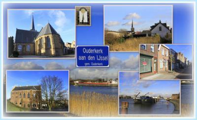 Ouderkerk aan den IJssel, collage van dorpsgezichten (© Jan Dijkstra, Houten)