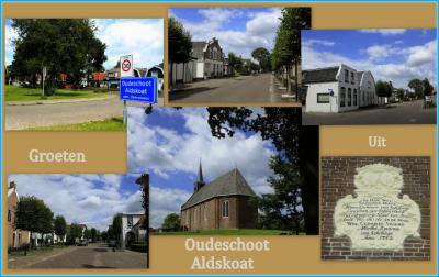 Oudeschoot, collage van dorpsgezichten (© Jan Dijkstra, Houten)