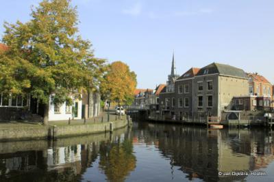 Oudewater, op de plek waar de Lange Linschoten in de Hollandse IJssel stroomt