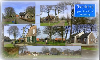 Overberg, collage van dorpsgezichten (© Jan Dijkstra, Houten)