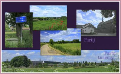 Partij, collage van dorpsgezichten (© Jan Dijkstra, Houten)