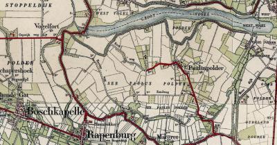 Pauluspolder was een dorpje. Als in de Franse Tijd de gemeente Stoppeldijk ontstaat, wordt, gezien de excentrische ligging van Pauluspolder, Rapenburg de hoofdplaats, met het gemeentehuis en sinds 1861 ook de kerk. De kerk van Pauluspolder is afgebroken.