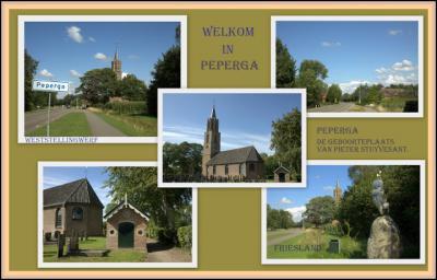 Peperga, collage van dorpsgezichten (© Jan Dijkstra, Houten)