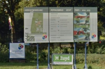 De bebouwing van zorginstelling Pergamijn (voorheen bekend als Pepijnklinieken) in buurtschap Pepinusbrug was verouderd en wordt daarom van 2015 tot 2020 gefaseerd vervangen door nieuwbouw in de vorm van een woonwijk (© Google)