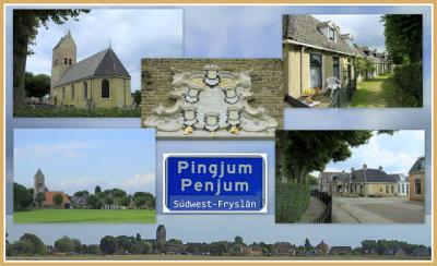 Pingjum, collage dorpsgezichten (© Jan Dijkstra, Houten)