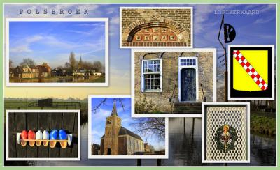 Polsbroek, collage van dorpsgezichten (© Jan Dijkstra, Houten)