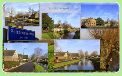 Polsbroekerdam, collage van buurtschapsgezichten (© Jan Dijkstra, Houten)