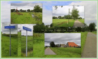 Poppenhúzen en Warniahúzen zijn 2 kleine buur-buurtschapjes onder Aldeboarn. Het is geografisch eigenlijk één gebied. Het is er vooral 'leeg', d.w.z. heel veel weidse weilanden met per buurtschap een handvol boerderijen. (© Jan Dijkstra, Houten)