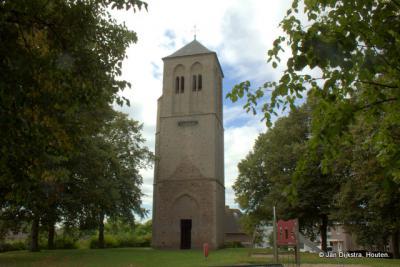 Puiflijk, de toren van de vroegere Hervormde kerk, die in 1816 is gesloopt.