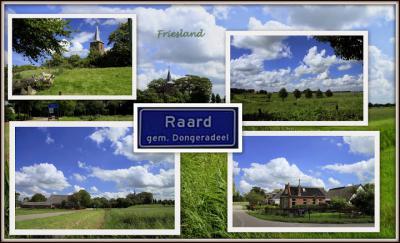 Raard, collage van dorpsgezichten (© Jan Dijkstra, Houten)