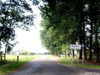 Radewijk líjkt 'slechts' een buurtschap o.a. omdat het dorp alleen witte plaatsnaamborden heeft en geen blauwe. Maar het is toch echt een heus dorp met alles d'r op en d'r an: een kerk en een kern (hoe klein ook) en in totaal toch ca. 650 inwoners.