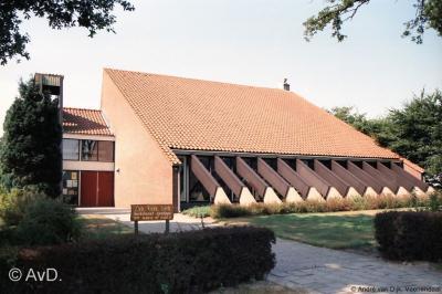 De voormalige Hervormde kerk van Radewijk, na de fusie tot PKN-gemeente verbouwd tot Protestantse kerk De Opgang