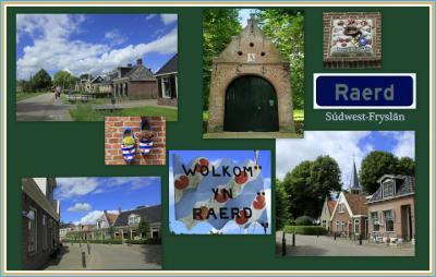Raerd, collage van dorpsgezichten (© Jan Dijkstra, Houten)