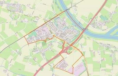 Actuele kaart van het grondgebied van de stad Ravenstein. Zoek de verschillen. :-) (© www.openstreetmap.org)
