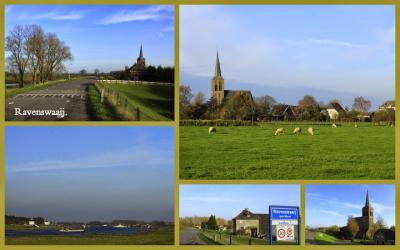 Zo'n mooi dorpje als Ravenswaaij is nog wel een tweede collage waard! (© Jan Dijkstra, Houten)