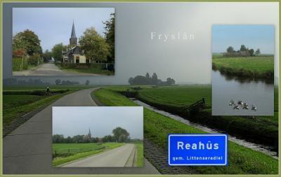 Reahûs, collage van dorpsgezichten (© Jan Dijkstra, Houten)