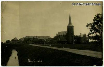 Reahûs, fotokaart met dorpsgezicht (1924)