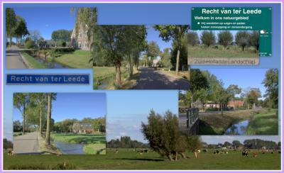 Recht van ter Leede, collage van buurtschapsgezichten (© Jan Dijkstra, Houten)