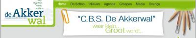 """Basisschool De Akkerwal in Rectum-Ypelo heeft 2 mooie slogans op haar site: Rust / Regelmaat / Ruimte / Relatie en """"waar klein Groot wordt""""."""