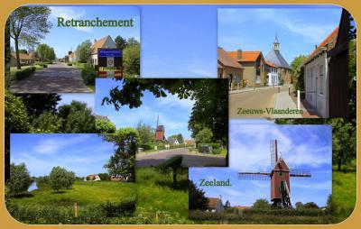 Retranchement, collage van dorpsgezichten (© Jan Dijkstra, Houten)
