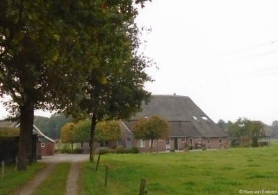 Buurtschap Rhaan, boerderij op Mekkelinkweg 8