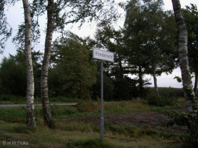 Rhederveld, plaatsnaambord aan de Vlagtwedder kant