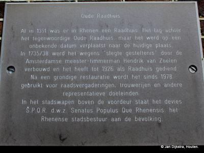 Even lezen en je weet alles van het oude raadhuis in Rhenen
