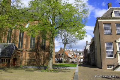 Rhenen, hartje stad tussen de Cunerakerk en het oude raadhuis