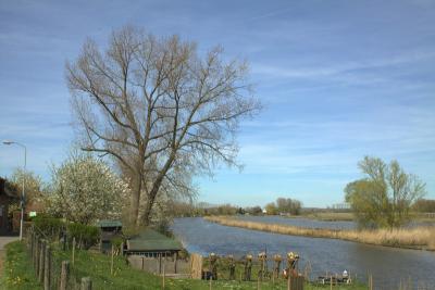 Rhenoy is een van de vele dorpen aan de Linge, een 100 km lange rivier die door de hele Betuwe loopt. (© Jan Dijkstra, Houten)