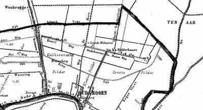 De gemeente Oudshoorn was dunbebouwd, en omvatte als belangrijkste kernen het dorp Oudshoorn langs de Oude Rijn, en in het NO de buurtschap Ridderbuurt, aan de weg die vanouds Oudshoornse Buurtweg heette (tegenwoordig heet deze weg Ridderbuurt).