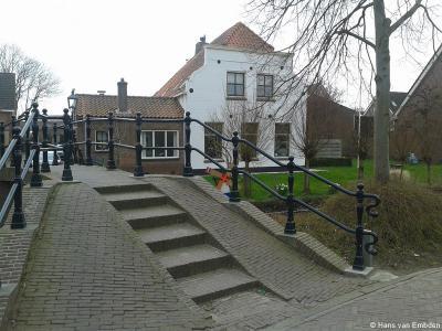 Rijnsburg, brug over de Vliet bij Moleneind en Kwakelsteeg