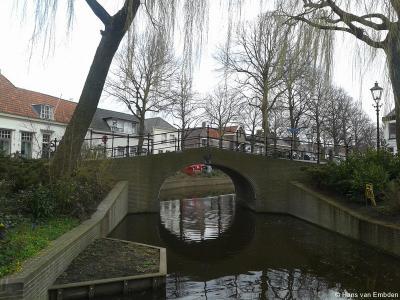 Rijnsburg, brug over de Vliet
