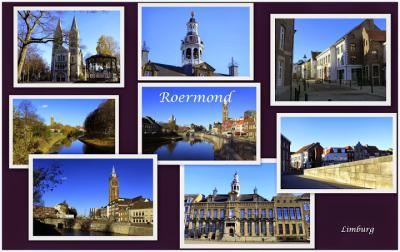Roermond, collage van stadsgezichten (© Jan Dijkstra, Houten)
